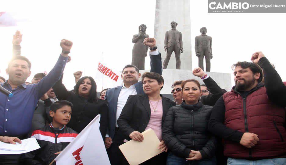 Inicio de precampaña de Armenta: discurso derrotista y con 150 personas (VIDEO)