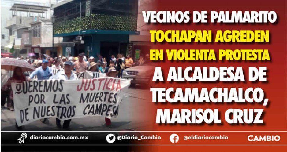 Alcaldesa de Tecamachalco se salvó de ser linchada por pobladores de Palmarito (VIDEOS)