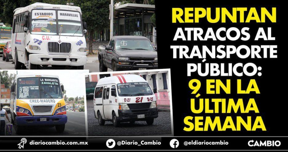 Repuntan atracos al transporte público: 9 en la última semana