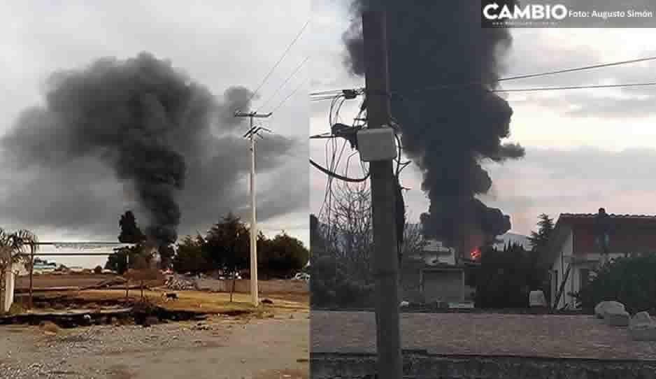VIDEO: Explota almacén clandestino de gas LP en San José Carpinteros, Tepeaca