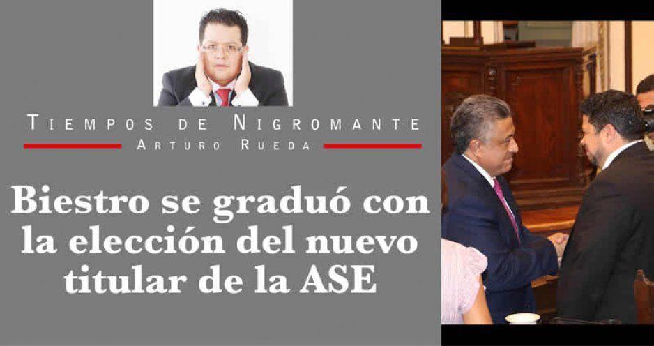Biestro se graduó con la elección del nuevo titular de la ASE