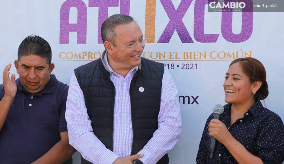 Guillermo Velázquez entrega obra de drenaje  sanitario en la colonia San Alfonso, Atlixco