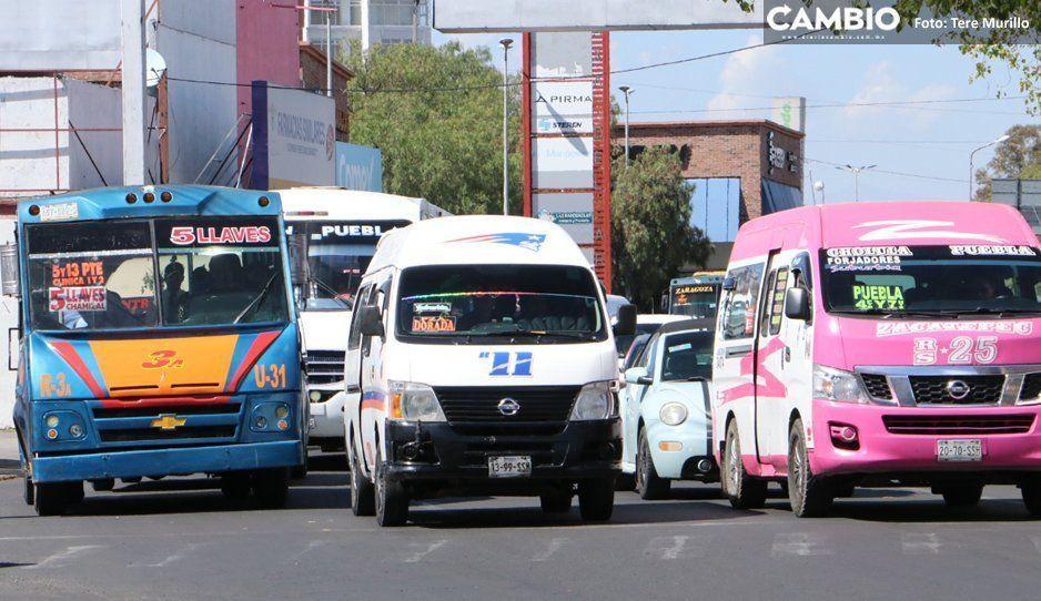 Advierte Barbosa que revocará concesiones de transportistas rebeldes que no modernizaron sus unidades