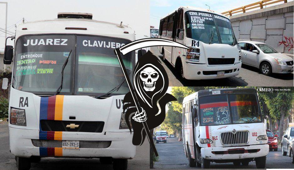 Ruta Azteca, 4 y Libertad Cuauhtémoc las más asaltadas de Puebla; aquí la lista completa de las rutas de la muerte