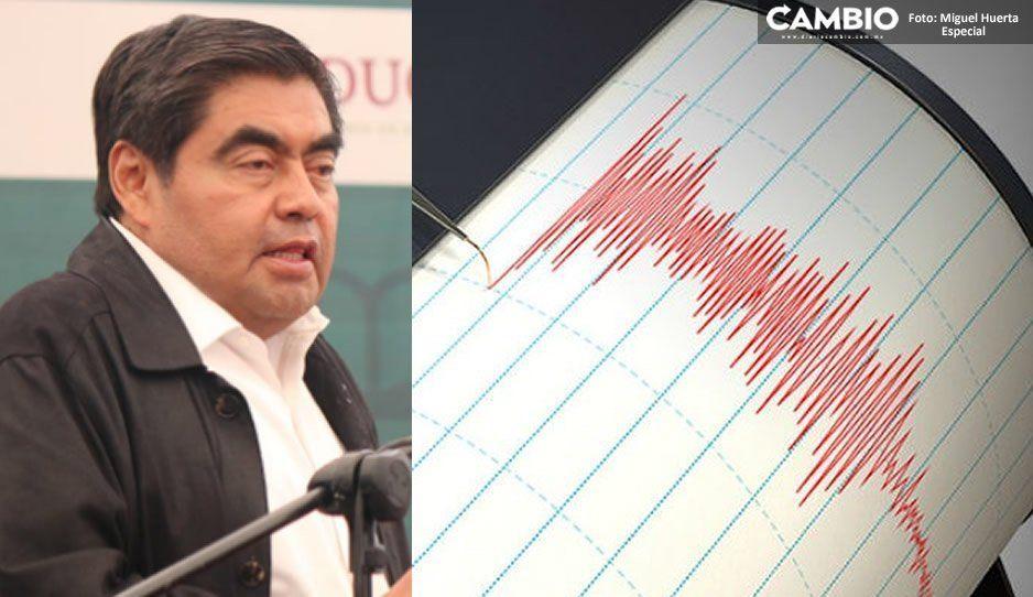 Anuncia Barbosa instalación de una alerta sísmica en municipios del centro y sur del estado