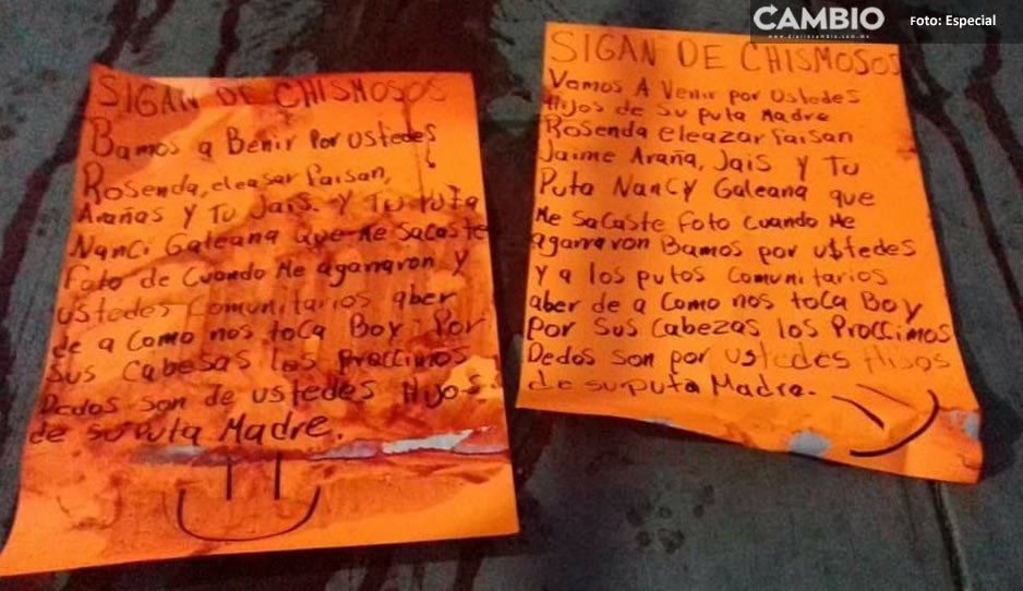 Infunden terror en vecinos y guardia comunitaria en Yehualtepec: les dejan narcomensaje y dedos en una caja