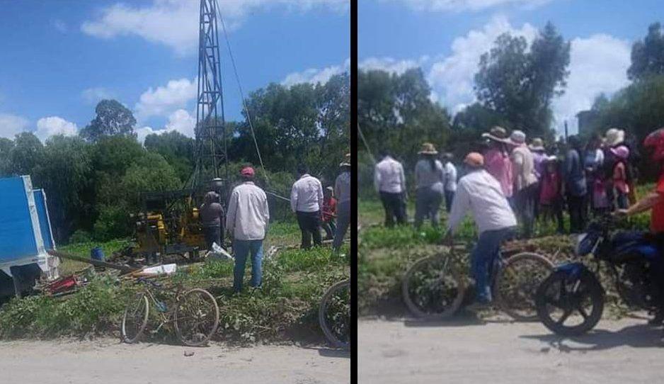 Se calientan los ánimos en Ocoyucan por perforación de pozo en Lomas