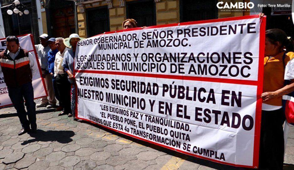 Amozoc se ha convertido en el panteón de Puebla, denuncian manifestantes en el Congreso