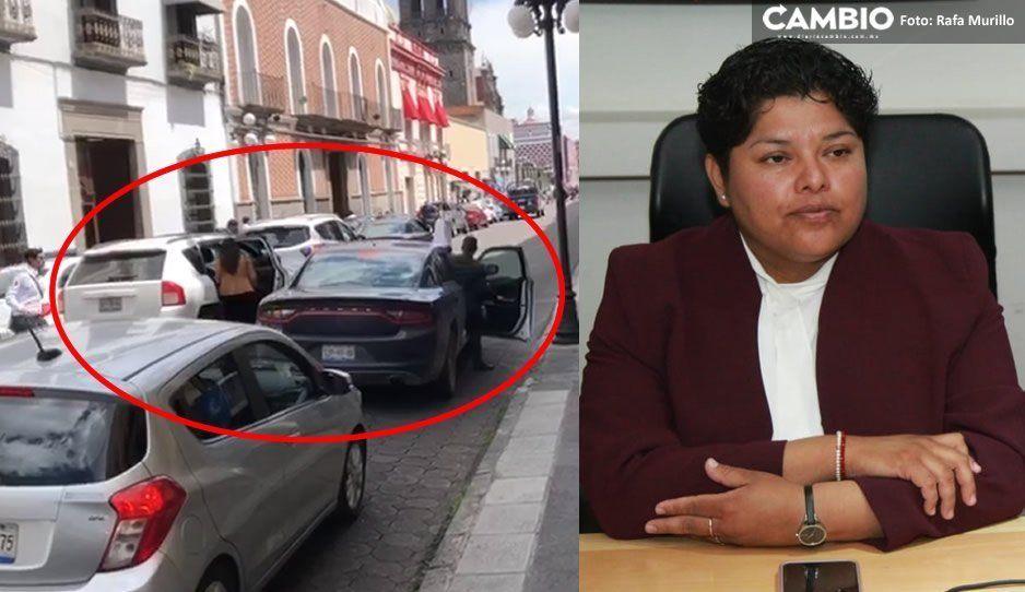 Karina Pérez se pasea en camionetón que está a nombre de constructora y que adeuda fotomultas