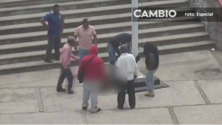 Se salvan dos jóvenes de ser linchados en Amozoc; los confunden con ladrones