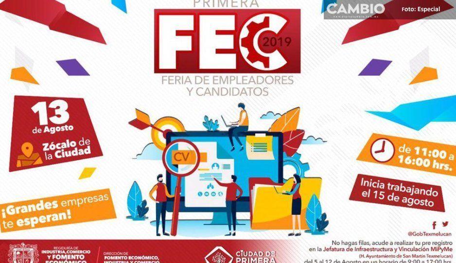 Ayuntamiento de Texmelucan anuncia su  primera Feria de Empleadores y Candidatos