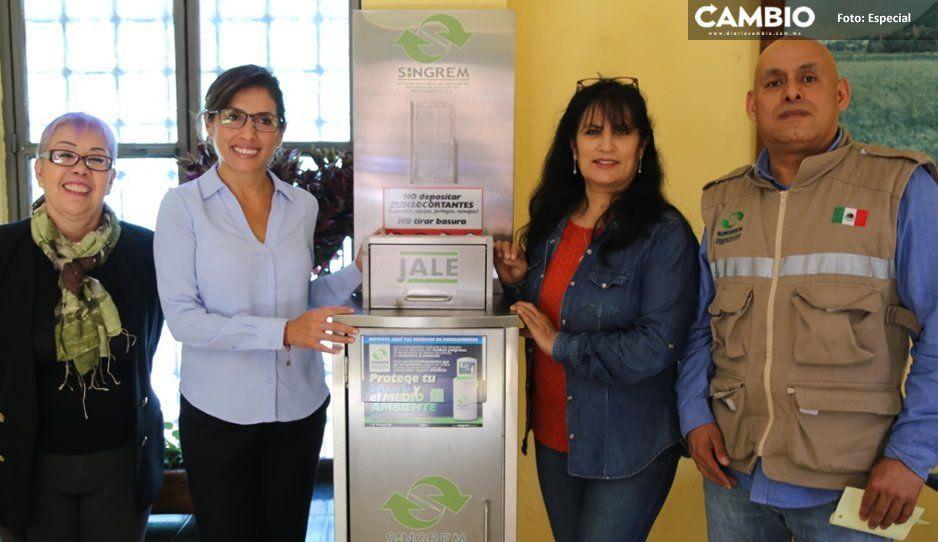 Instala DIF de Atlixco primer contenedor seguro de medicamentos caducos