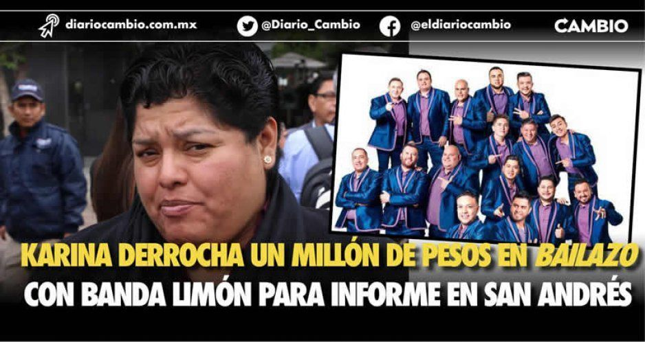 Karina Pérez gasta un millón para convertir informe en bailongo