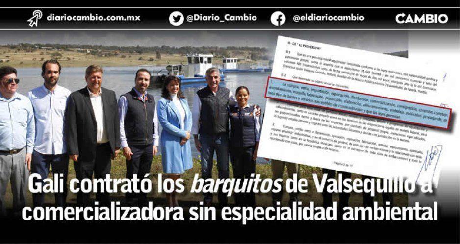 Gali contrató los barquitos de Valsequillo a comercializadora sin especialidad ambiental
