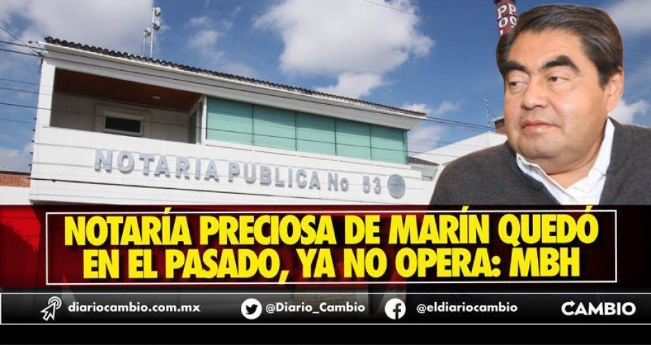 Marín se queda sin su Notaría; ya le revocaron y retiraron libros y sellos