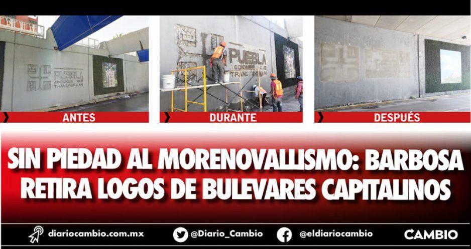 Sin piedad al morenovallismo: Barbosa retira logos de bulevares capitalinos