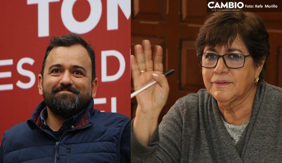 Agarrón entre Silvia Tanús y René por ambulantes: lo llama líder de comerciantes y él la tilda de hipócrita