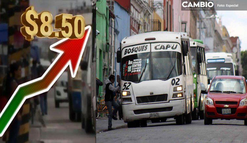 Acuerdan tarifazo de 2.50: ahora poblanos pagarán 8.50 de pasaje