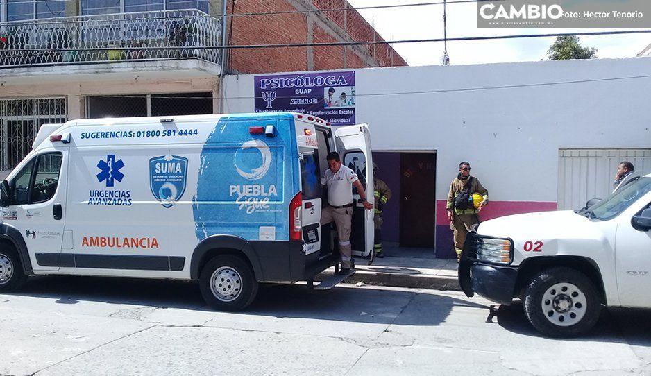Flamazo en tanque de gas deja a dos mujeres sin cejas en Texmelucan