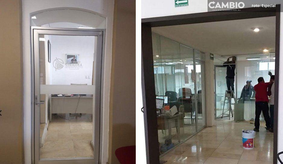 Arriaga niega obras a pobladores, pero derrocha más de 3 mdp en remodelación de oficinas