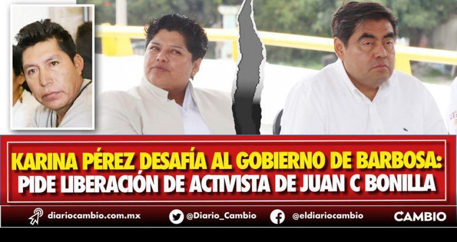 """Karina traiciona al barbosismo: exige liberación del """"activista"""" (VIDEO)"""