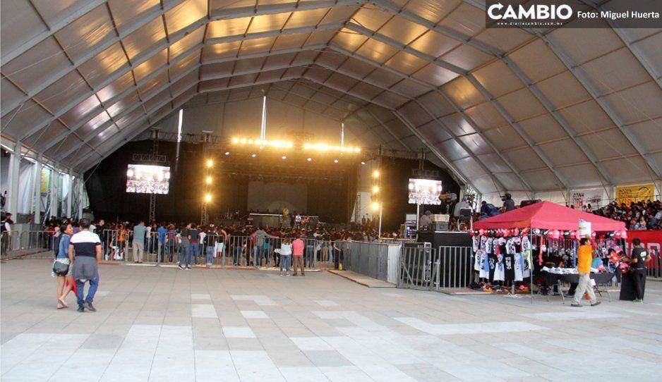 CD9 no convoca ni a tres mil fans en la Feria de Puebla