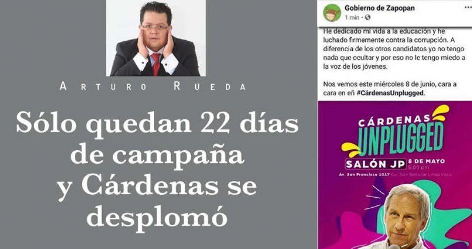 Sólo quedan 22 días de campaña y Cárdenas se desplomó