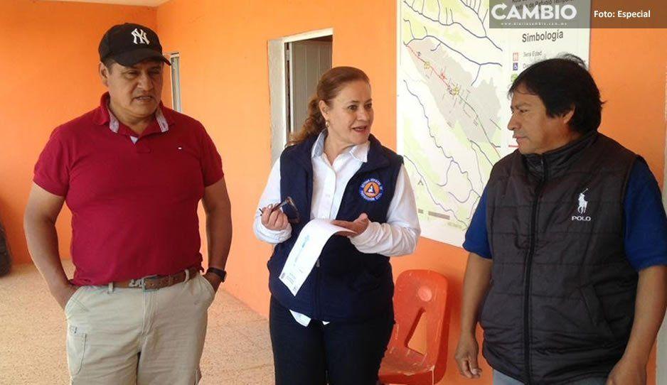 PC Estatal recorre municipios cercanos al Popocatépetl y revisa refugios temporales