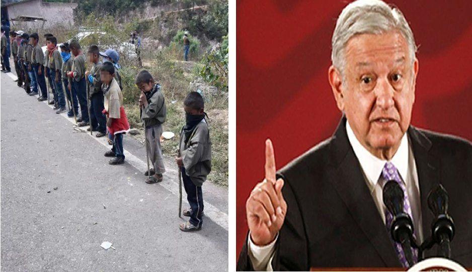 """""""Grupos criminales reclutan niños porque se les dificulta conseguir sicarios"""" declara AMLO"""