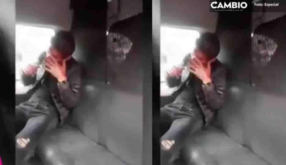 Pasajeros golpean a asaltante de transporte público tras haber baleado a un niño de tres años (VIDEO)