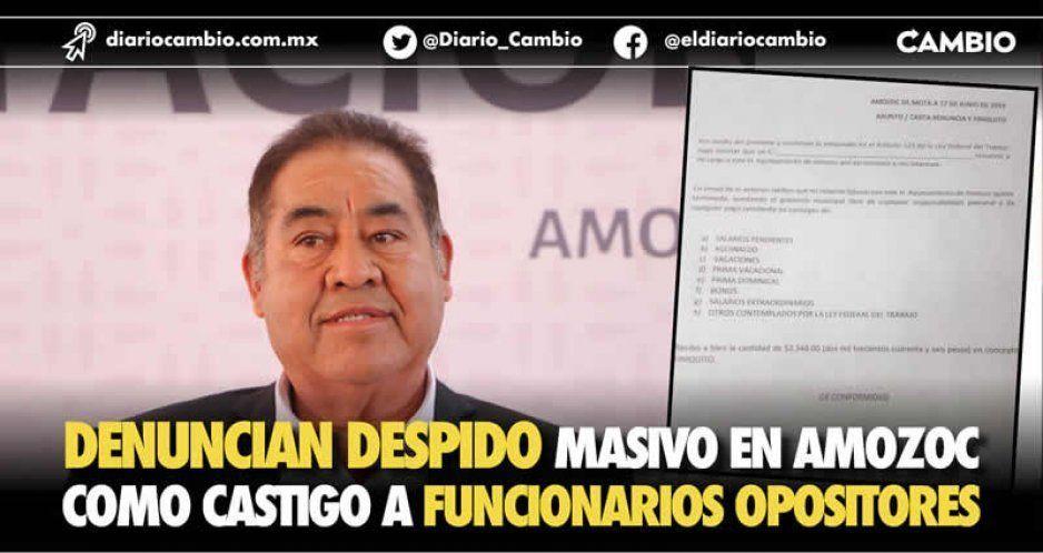 Denuncian despido masivo en Amozoc como castigo a funcionarios opositores