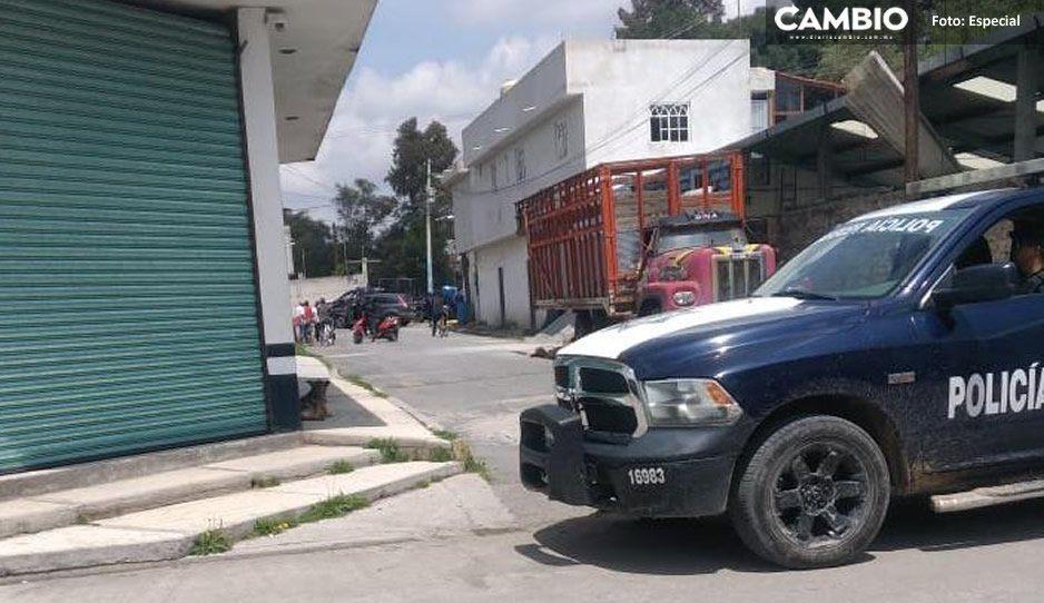 Otra balacera: Se enfrentan policías federales contra delincuentes en Texmelucan
