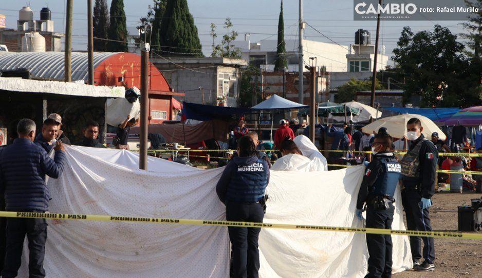 Tianguistas de San Isidro hallan cuerpo calcinado cuando llegaban a instalarse