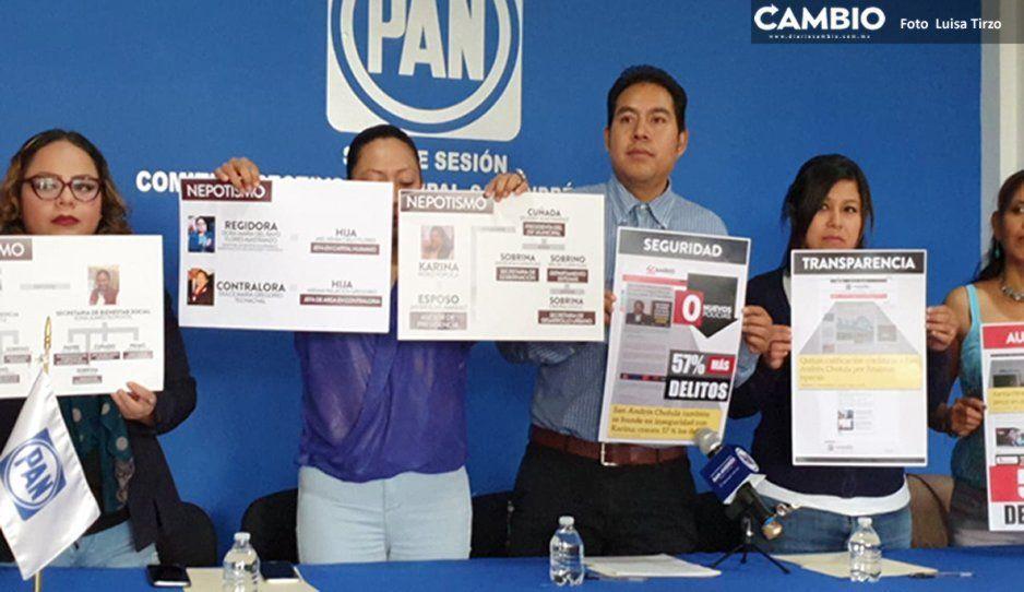 PAN de San Andrés acusa nepotismo en el gabinete de Karina Pérez
