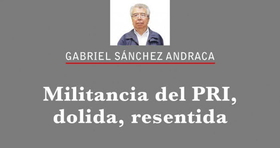 Militancia del PRI, dolida, resentida