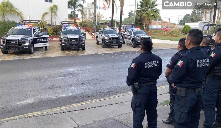 Integran 18 nuevos elementos a Seguridad Pública Municipal de Cuautlancingo