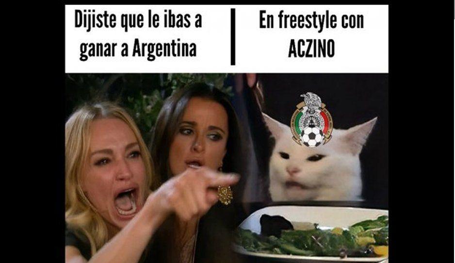 Aquí los memes de la amistosa goleada de Argentina 4-0 a México