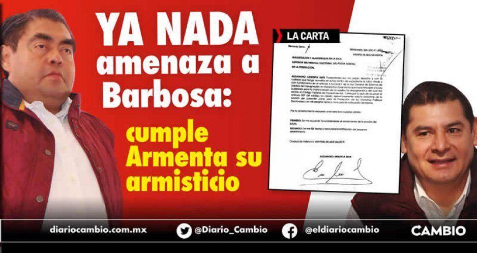 Ya nada amenaza a Barbosa: cumple Armenta su armisticio