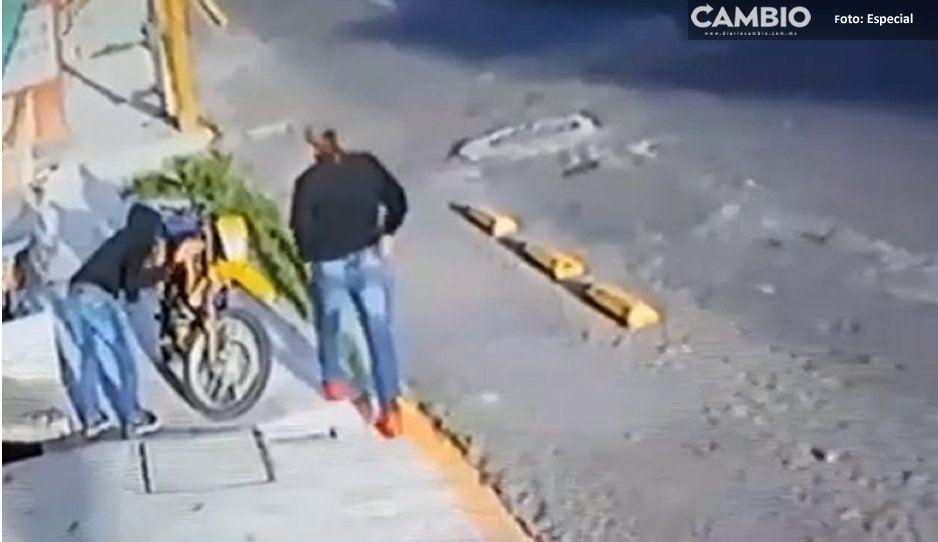 VIDEO: ¡Ratotas! Aumenta el robo de motonetas en Atlixco