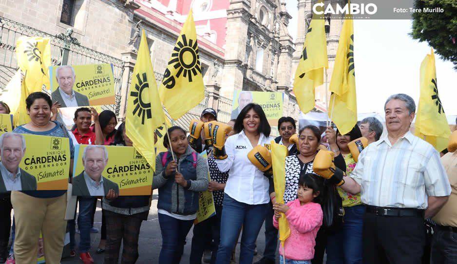 Fracasa evento del PRD en el  Zócalo para apoyar a Cárdenas