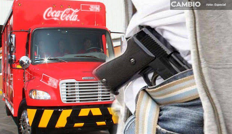 ¡Se rayaron! Comando armando roba un millón a Coca-Cola en Chignautla