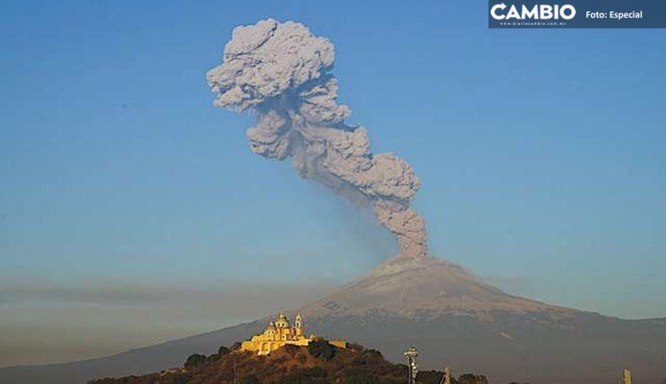 Sube a Fase 3 la alerta volcánica y rutas de evacuación en Chiautzingo están en malas condiciones