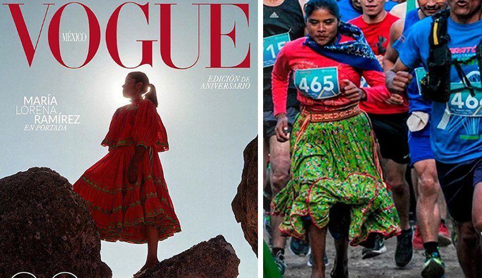 Lorena Ramírez, corredora rarámuri, es la portada de Vogue México