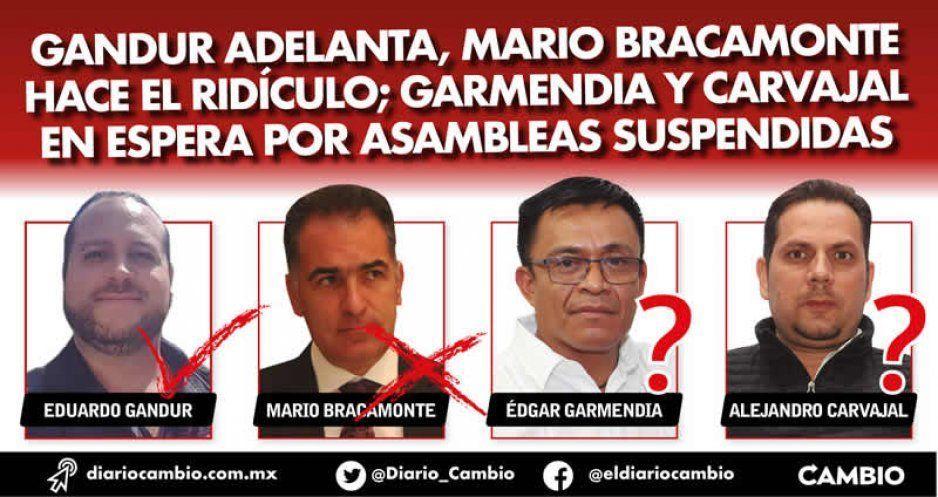 Gandur adelanta, Mario Bracamonte hace el ridículo; Garmendia y Carvajal en espera por asambleas suspendidas
