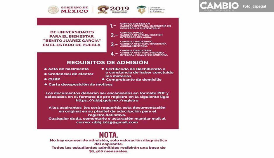 Se lanzó convocatoria para universidades de AMLO, pero aún no existen planteles