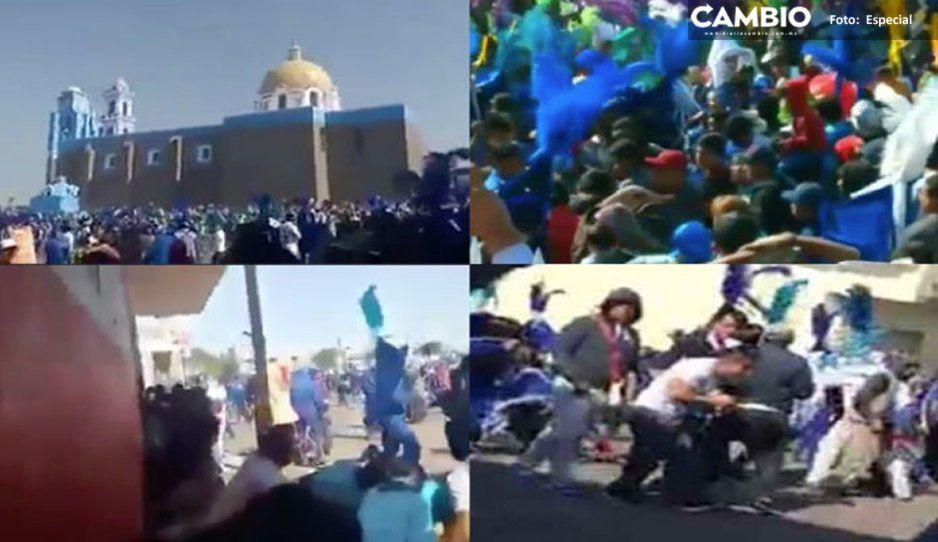 Pánico en Tenancingo: en pleno carnaval lanzan al aire más de 26 balazos (VIDEO)