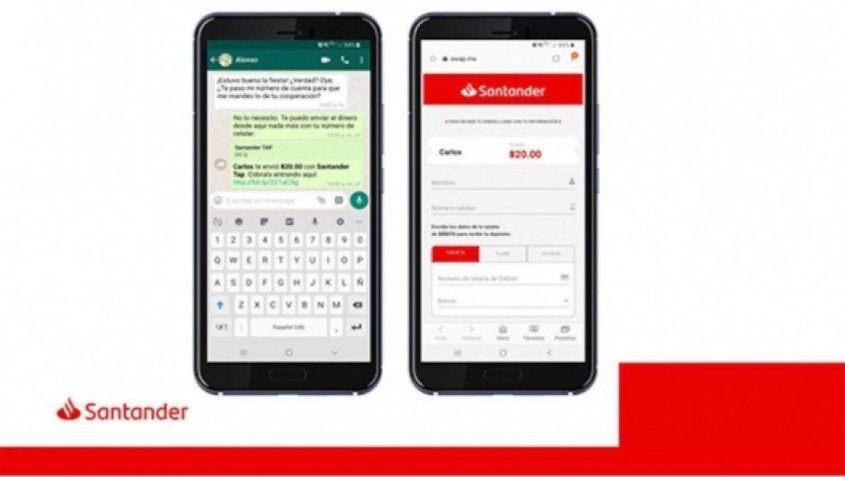 Desde WhatsApp, Banco Santander permitirá hacer transferencias en línea