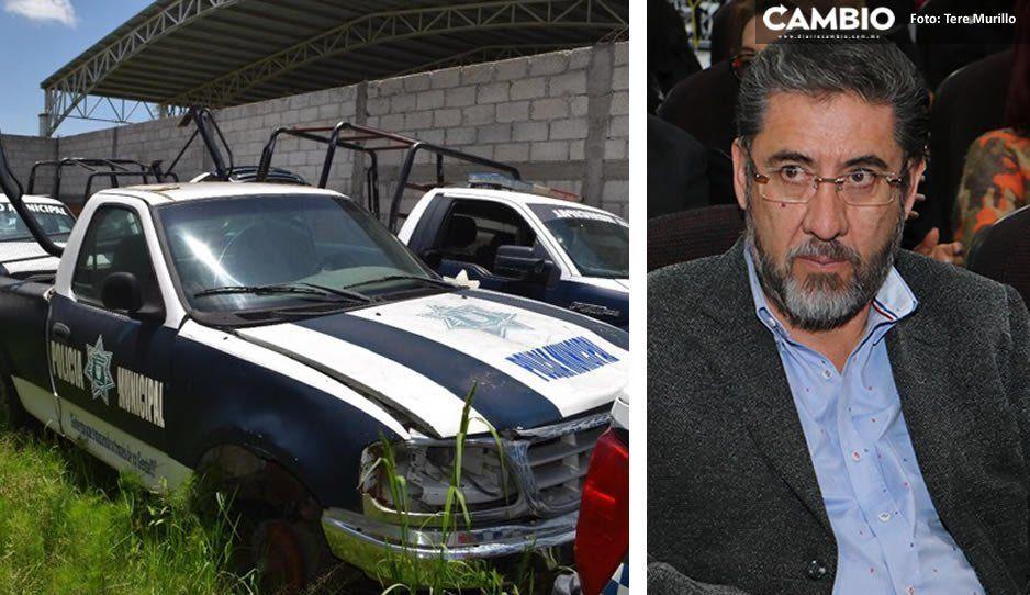 Rodolfo Huerta tenía 30 patrullas, solo entregó 7; Contraloría de Ocoyucan ya abrió proceso