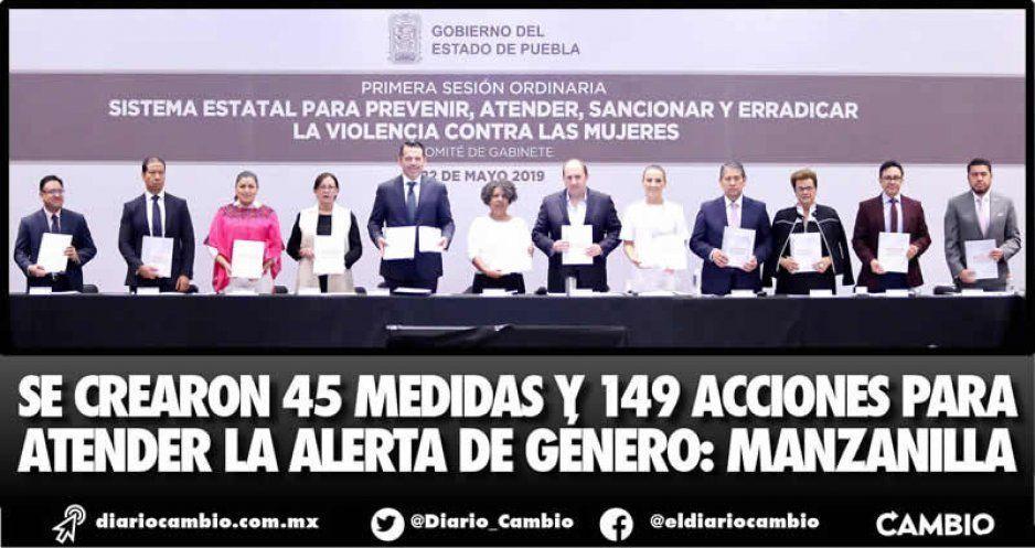 Se crearon 45 medidas y 149 acciones para atender la Alerta de Género: Manzanilla