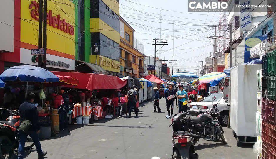 Prevén reordenamiento de comercio informal en San Martín Texmelucan